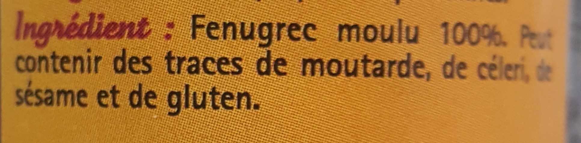 Fenugrec  en poudre - Ingrediënten - fr