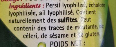 Persillade - Voedingswaarden - fr