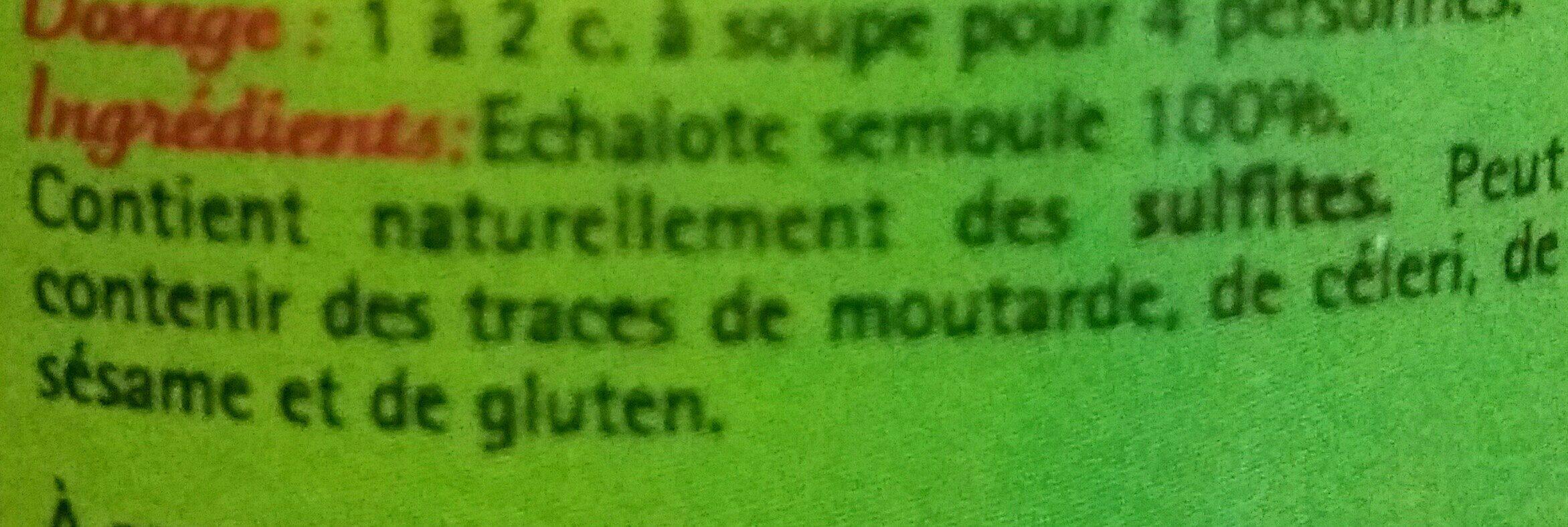 Echalote semoule - Ingrediënten - fr