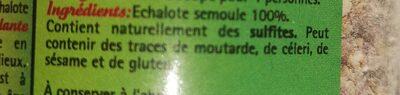 Echalote semoule - Voedingswaarden - fr