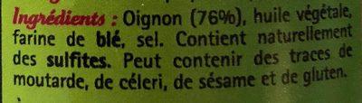Oignons frits - Ingrediënten
