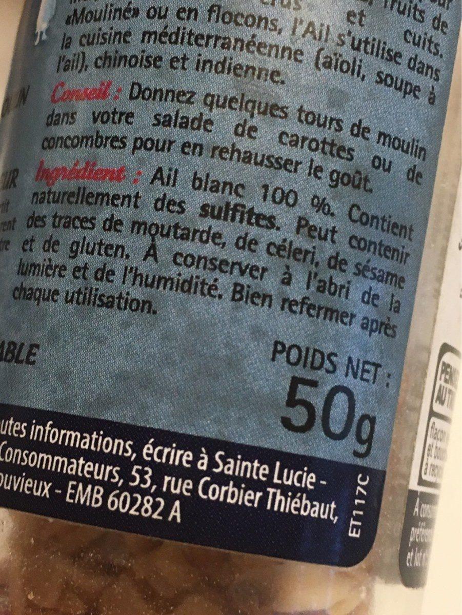 Ail en lamelles - Ingrediënten - fr