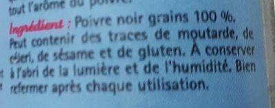 Poivre noir - Ingredientes - fr
