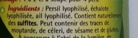 Persillade lyophilisée - Ingrediënten - fr