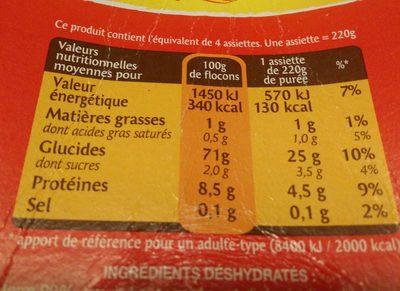Bonne Purée - Nutrition facts - fr