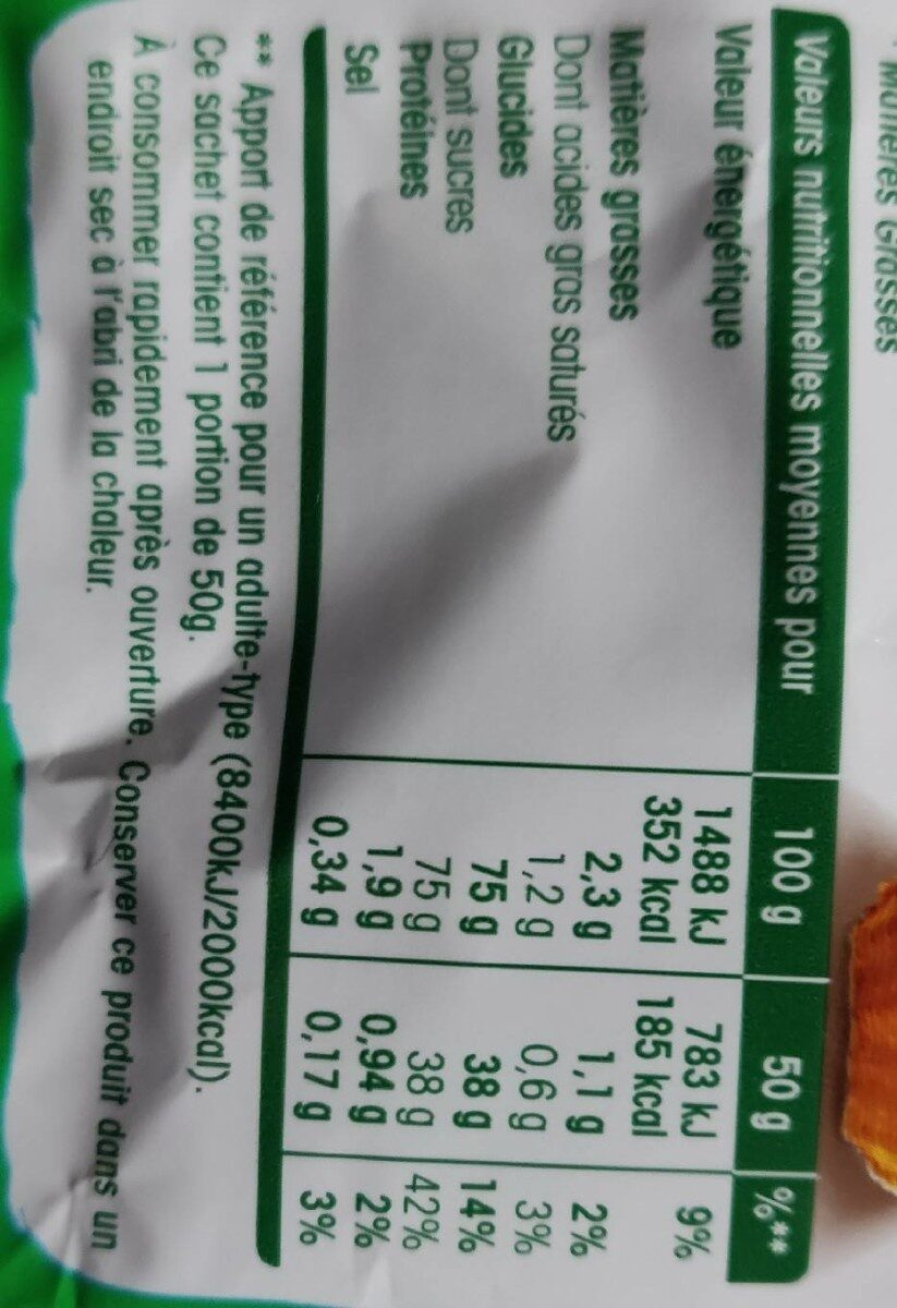 Crousti Pom - Informação nutricional - fr