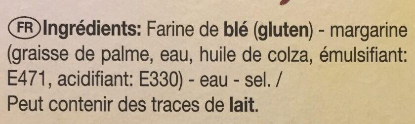 Tartelettes Feuilletees LS 3 Toques X 9 99G - Ingrédients - fr