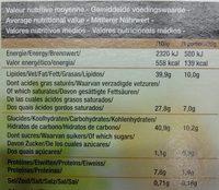 6 bouchées carrées au beurre à garnir - Informations nutritionnelles