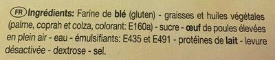 Les 3 Toques Sweet Tartlettes 9 Piece - Ingrediënten - fr