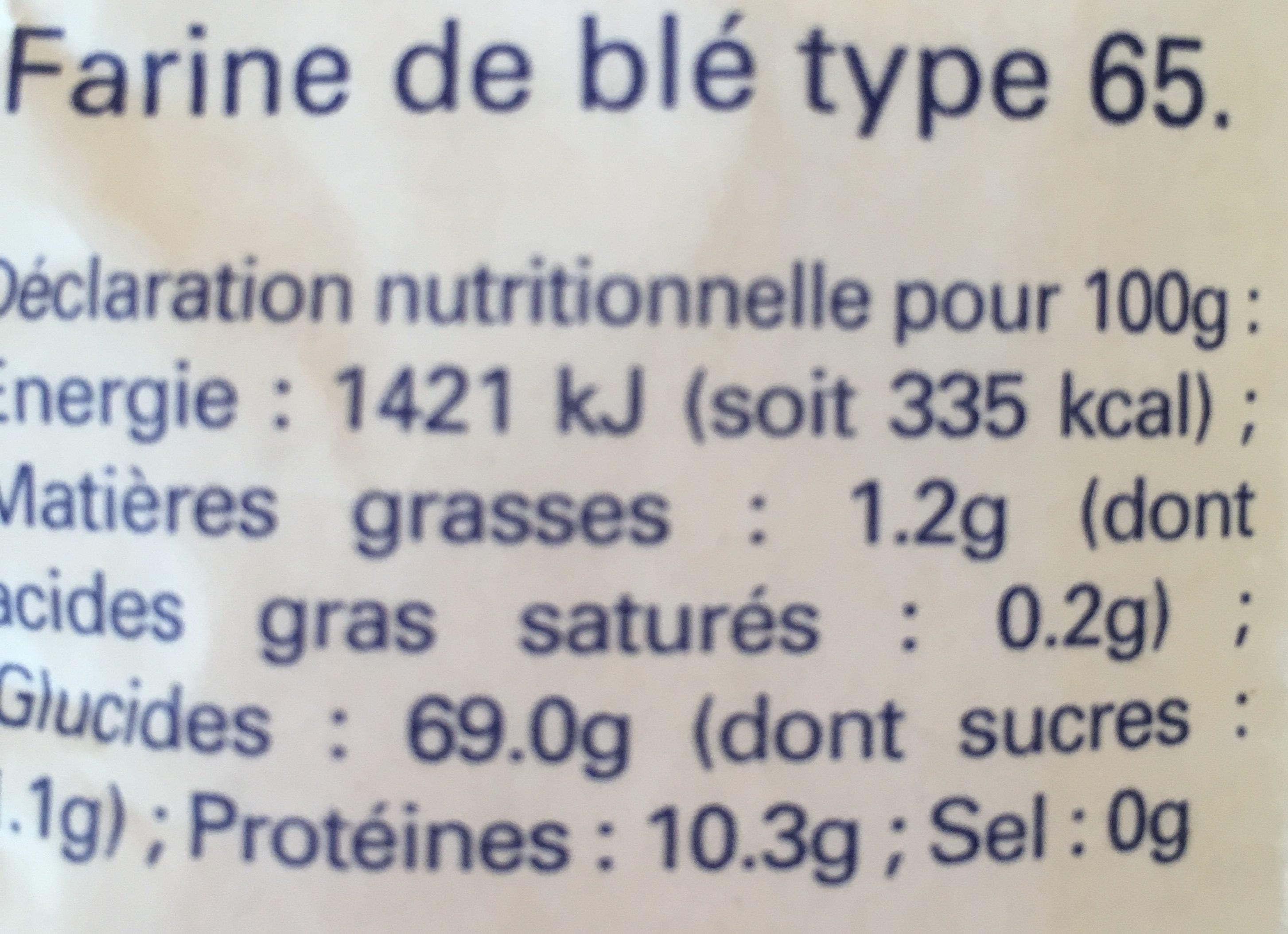 Farine de blé type 65 - Ingredients