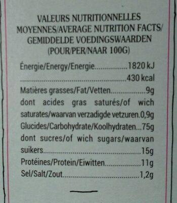 Zwieback - Petites Biscottes Suisses au Lait - Informations nutritionnelles - fr