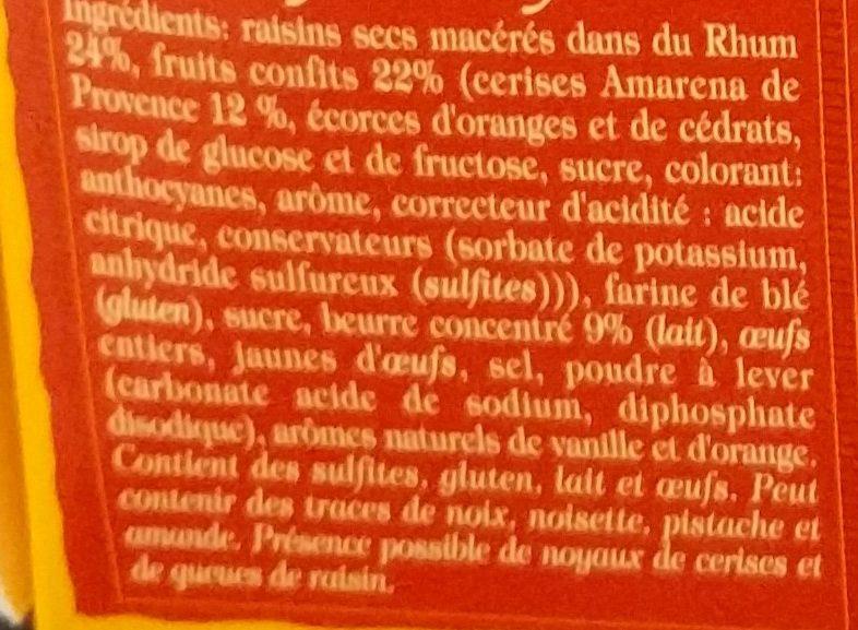 Cake pur beurre aux fruits confits - Ingrédients