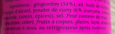 BIO Pâte de Curry au Gingembre - Ingredients - fr