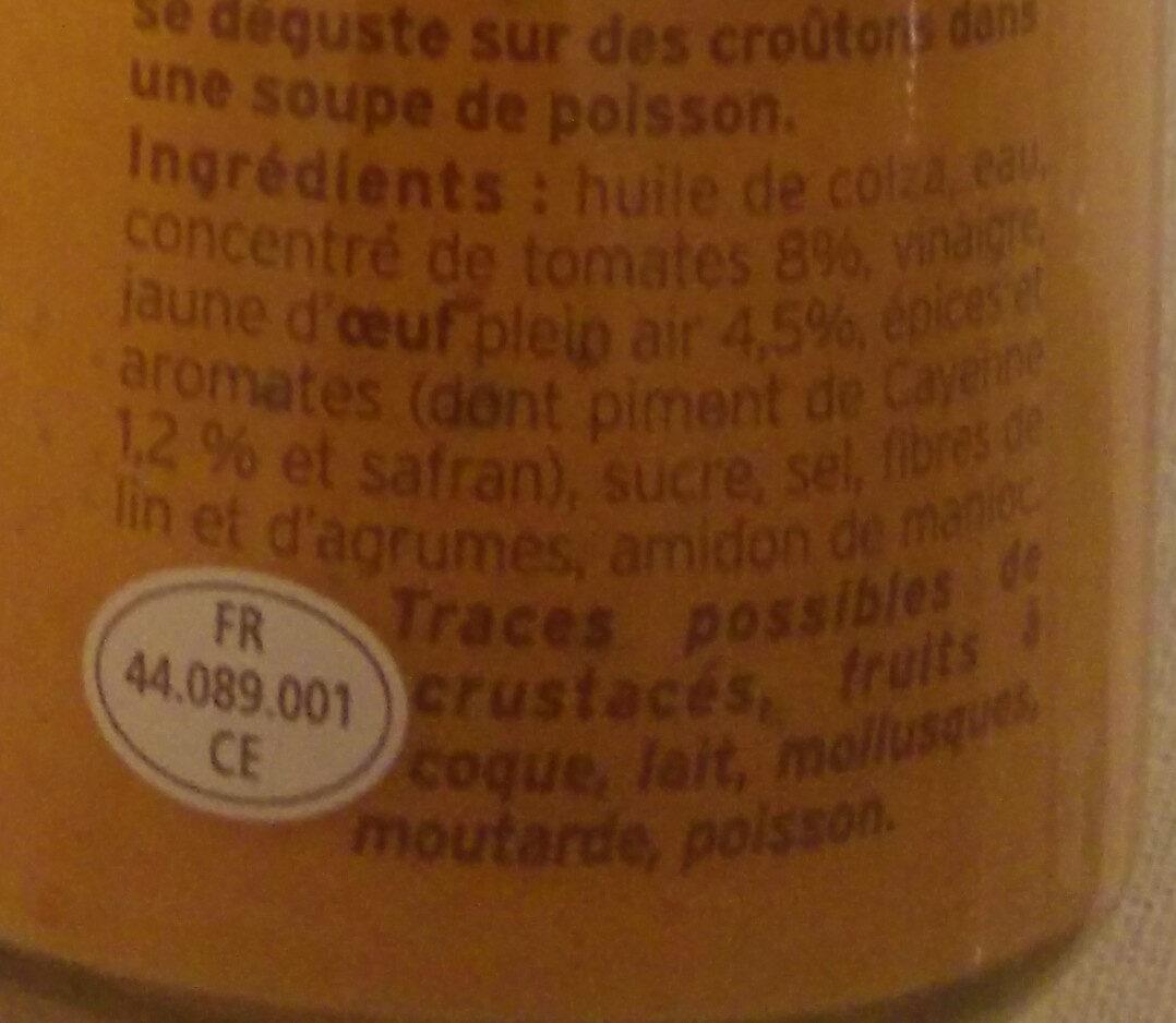 Rouille à la Sétoise - Ingredients - fr