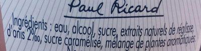 Ricard - Ingredienti - fr