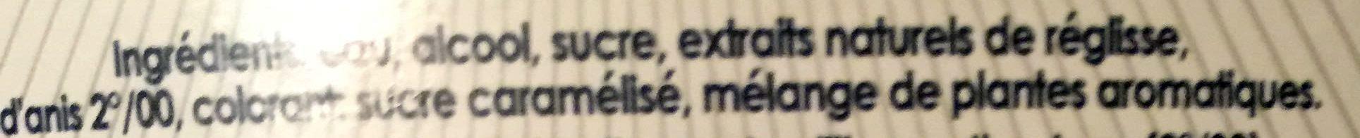 Pastis de Marseille - Ingrédients