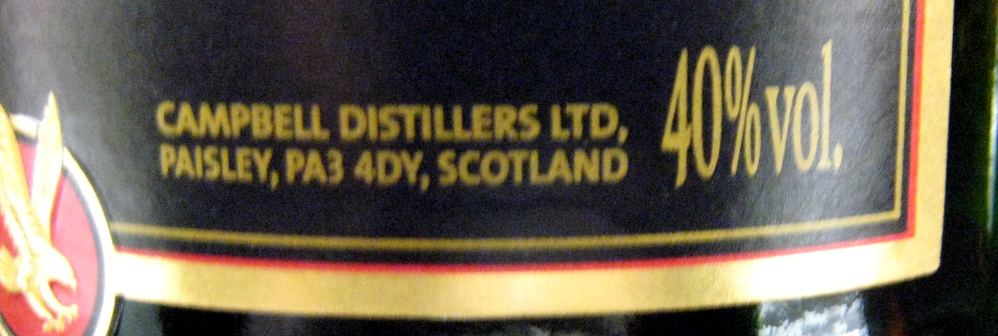 Whisky Ecosse blended 70 cl Clan Campbell - Informations nutritionnelles - fr