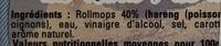 Rollmops du Nord Pas-de-Calais - Ingrediënten