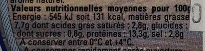 Rollmops du Nord Pas-de-Calais - Voedingswaarden