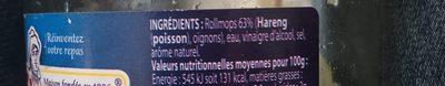 Rollmops - Ingrédients - fr