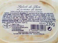 Salade de thon et pomme de terre - Ingrediënten - fr