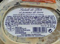 Salade de thon et pomme de terre - Voedingswaarden - fr