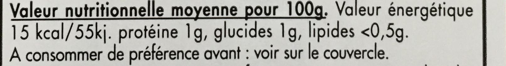 Cornichons Français extra-fins au vinaigre d'Orléans - Informations nutritionnelles