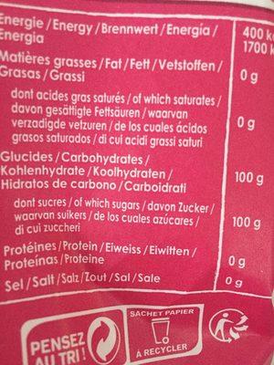 Sucre cristal - Nutrition facts