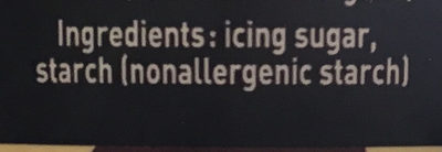 Daddy saupoudreuse glace 500 gr - gamme speciaux - Ingredients - en