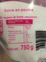 Sucre en poudre - Voedingswaarden - fr
