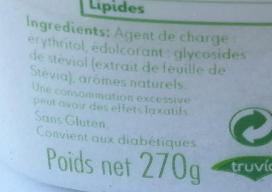 Truvia - Ingrédients - fr