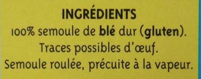 Graine Couscous moyen - Ingrédients