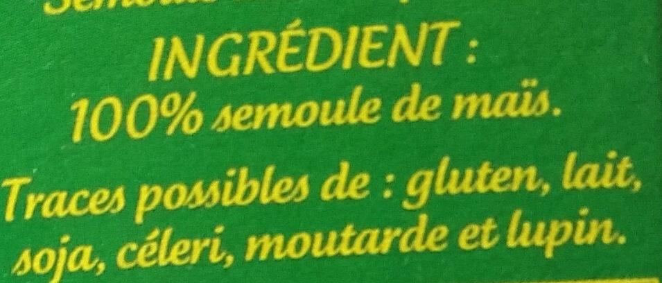 Polenta - Ingrediënten - fr
