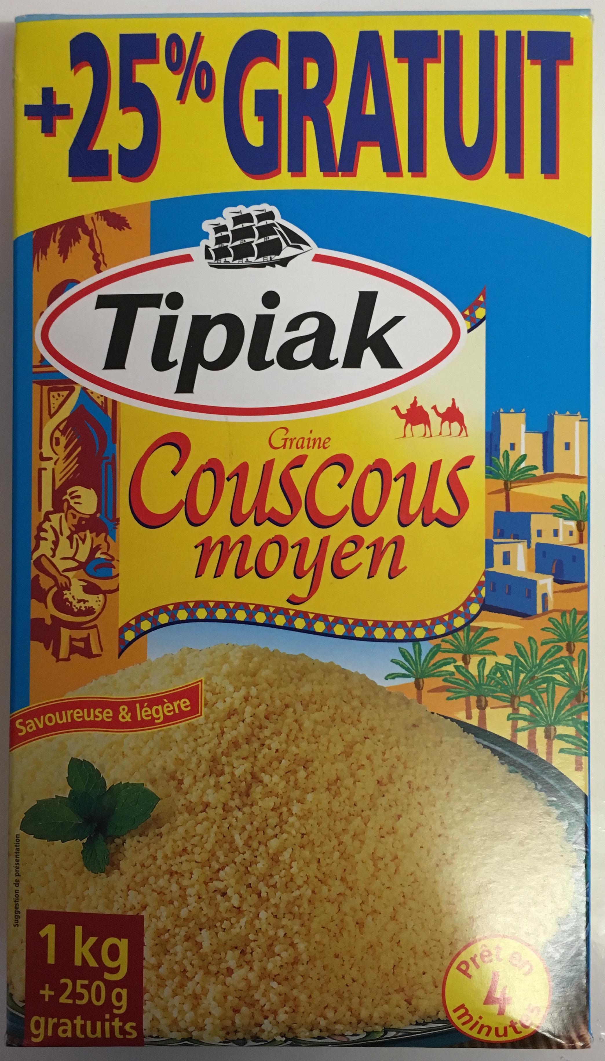 Graine Couscous moyen (+25% gratuit) - Produit - fr