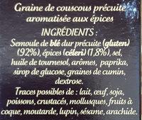 Graine de Couscous Parfumé aux Épices du Monde - Ingredienti - fr
