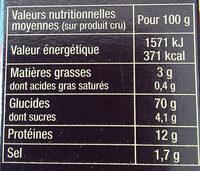 Graine de Couscous Parfumé aux Épices du Monde - Valori nutrizionali - fr