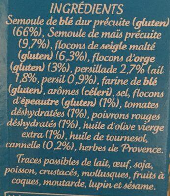 Céréales méditerranéennes - Ingrédients - fr