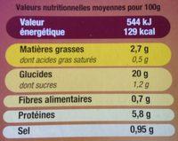 Paëlla Méditerranée Surgelée - Informations nutritionnelles - fr