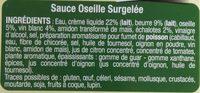 Sauce oseille surgelée - Ingrédients
