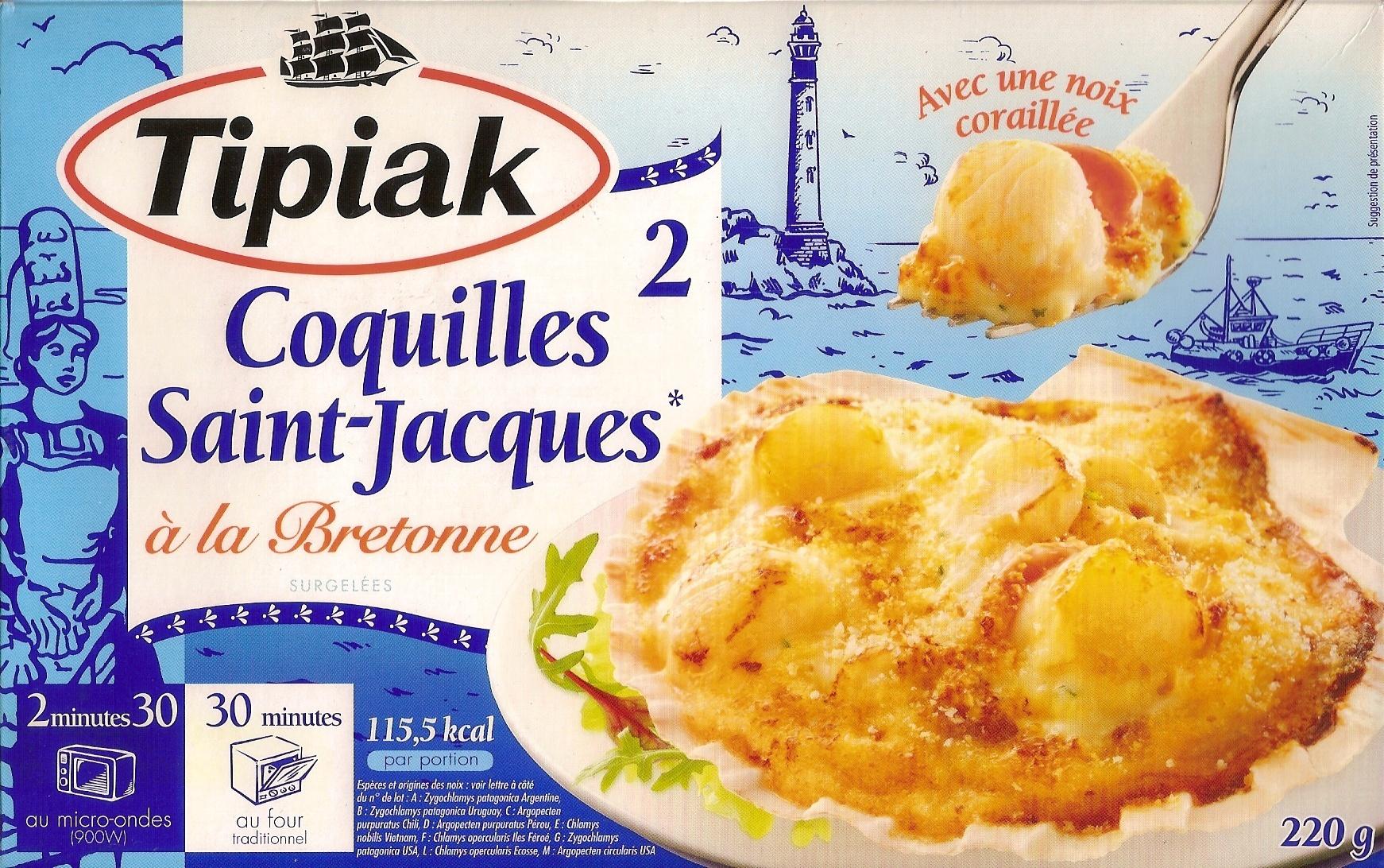 2 Coquilles Saint-Jacques* à la Bretonne - Product - fr