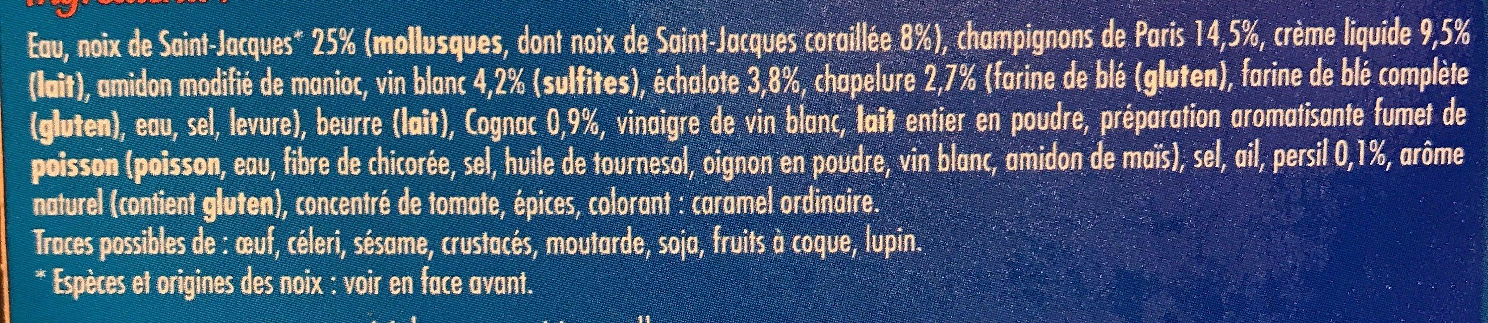 2 Coquilles Saint-Jacques* à la Bretonne, Surgelées - Ingrédients