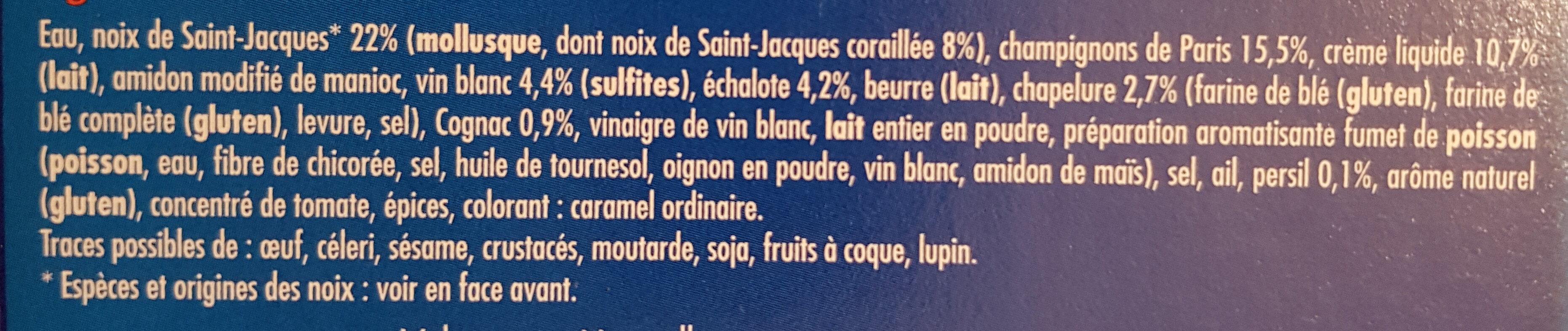 2 Coquilles Saint-Jacques* à la Bretonne - Ingrediënten - fr