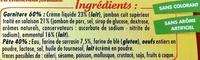 2 Galettes Jambon Fromage - nouvelle recette - Ingrédients