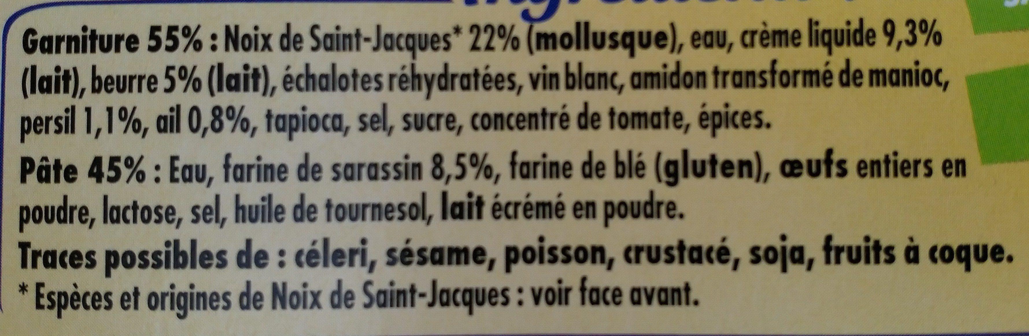 2 Galettes Saint-Jacques au Beurre Persillé - Ingrédients - fr