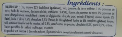 Brandade de Morue Parmentier à l'Huile d'Olive et aux Fines Herbes - Ingredients
