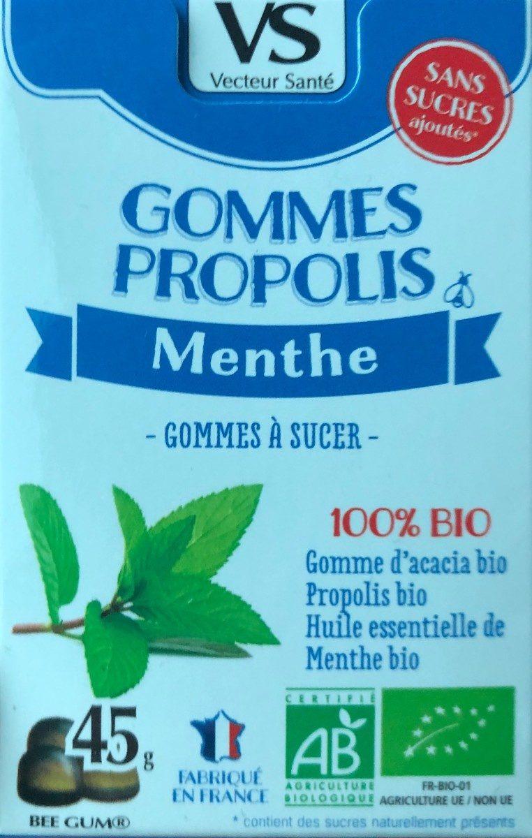 Gommes Propolis Menthe Sans Sucre Bio - Product
