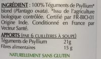 Psyllium Blond - Ingredients
