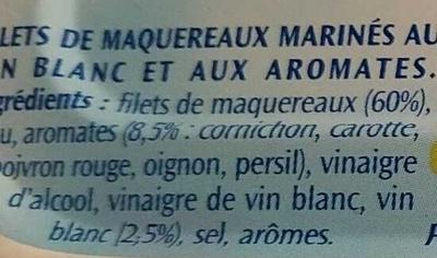 Filets de maquereaux au vin blanc et aux aromates - Ingredients