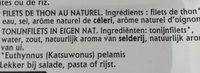 filets de thon au naturel - Ingrediënten - fr