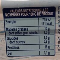 Filet de thon citron - Informazioni nutrizionali - fr